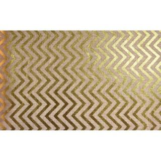 Chemin de table en jute à chevrons or 28 cm x 5 m 357372