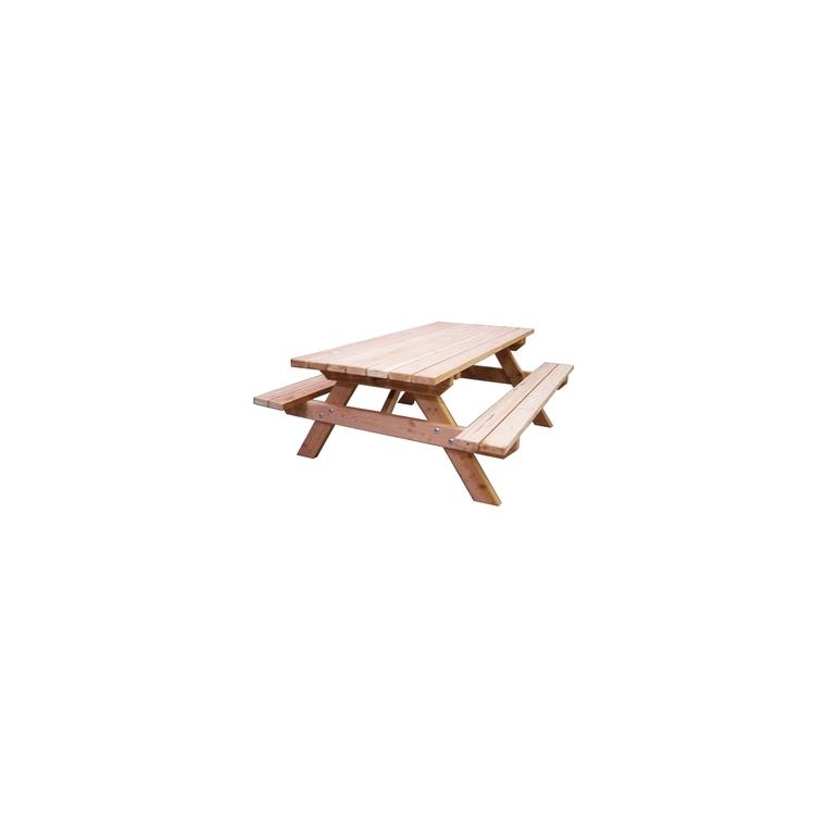 Table forestière douglas 7 lattes 1.90x1.45 haut.075 m : Tables et ...