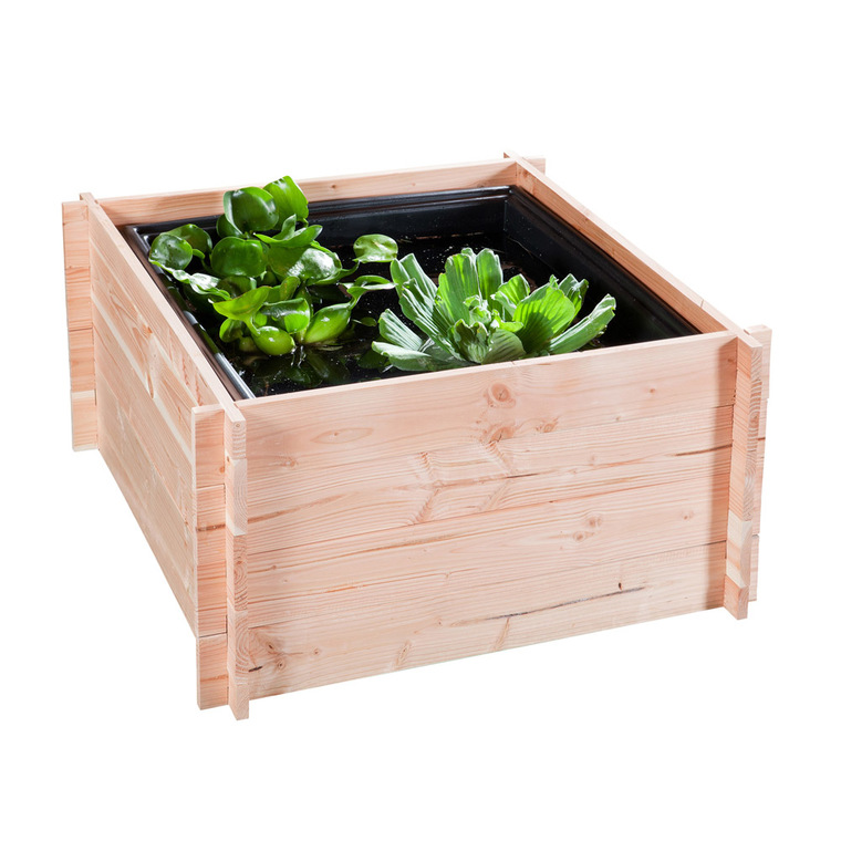 tour en bois potager bassin aquatique 90 cm x 90 cm x 48 cm cr ation de bassin de jardin. Black Bedroom Furniture Sets. Home Design Ideas
