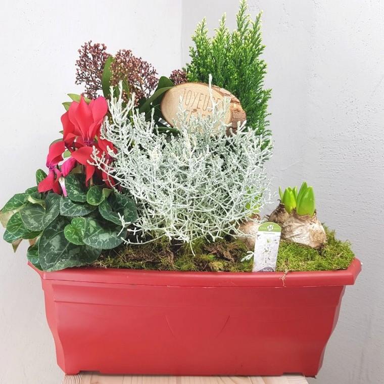 jardini re de no l la jardini re de 40 cm botanic. Black Bedroom Furniture Sets. Home Design Ideas
