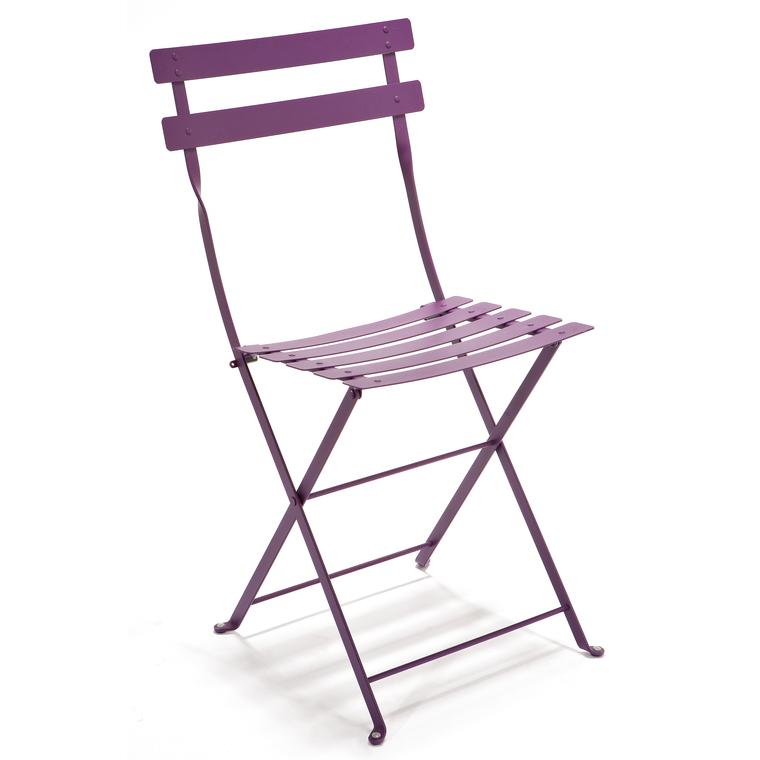 Chaise pliante Bistro coloris Aubergine : Les bons plans Web ...