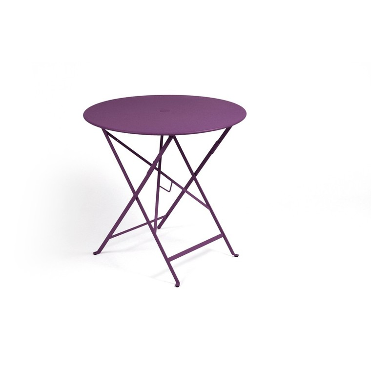 Table de jardin ronde Bistro FERMOB aubergine 77 x h 74 cm : Tables ...