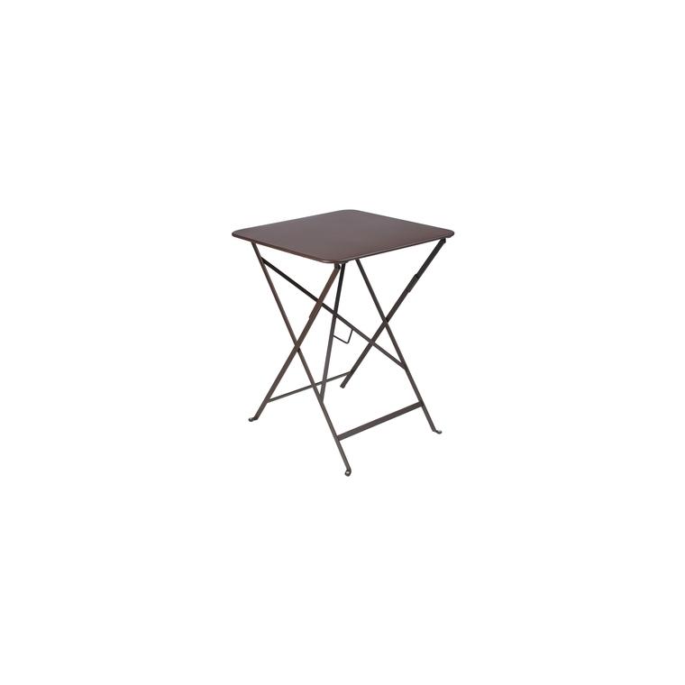 Table pliante carrée couleur rouille 57 x 57 x 74 cm ...
