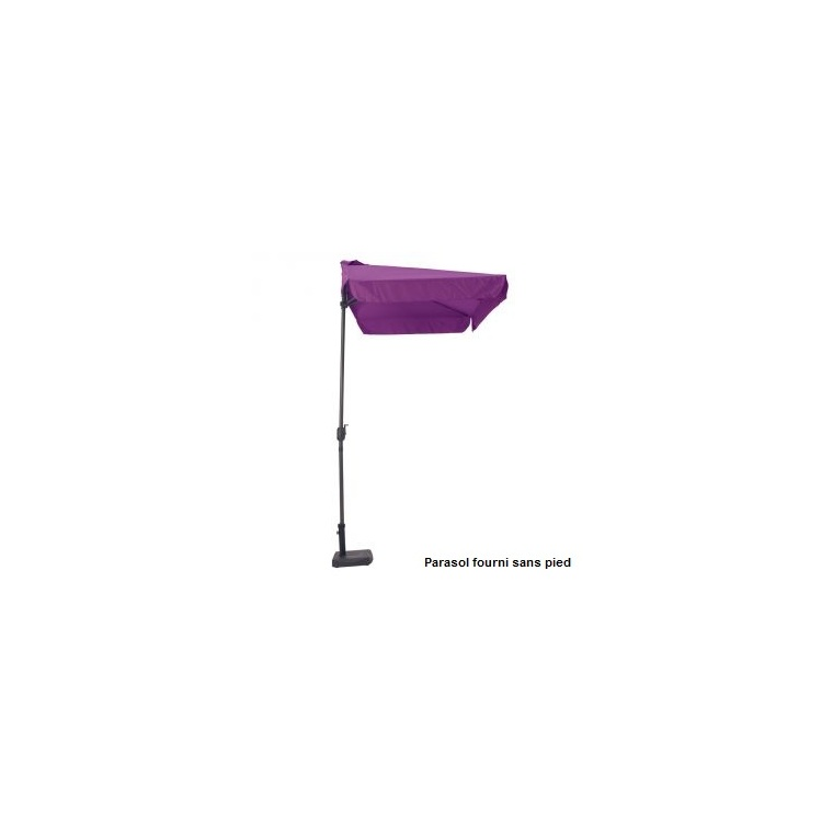 demi parasol rectangulaire aubergine 2 30 m x 1 30 m botanic. Black Bedroom Furniture Sets. Home Design Ideas