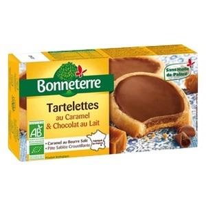 Tartelettes au caramel et chocolat au lait Bonneterre bio 125 g 100318
