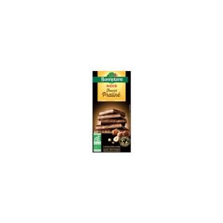 Chocolat noir fourre praline 100 g BONNETERRE 100326
