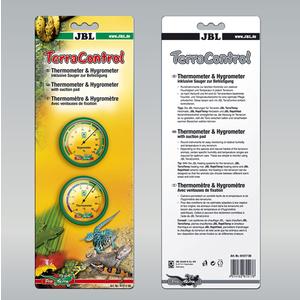 Terra control noir avec thermomètre et hygromètre 100854