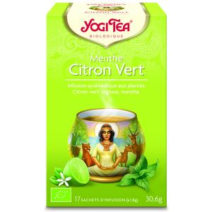 Yogi Tea Menthe citron vert – La boîte de 17 sachets 103070