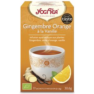Yogi Tea Gingembre orange vanille – La boîte de 17 sachets 103097