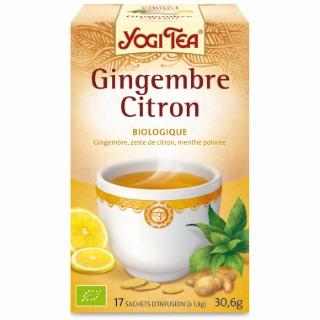 Yogi Tea Thé vert gingembre citron – La boîte de 17 sachets 103103