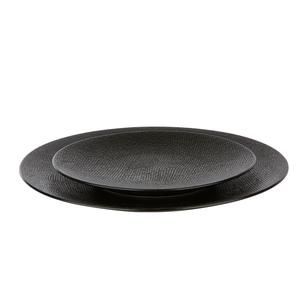 Assiette plate Vesuvio noire Ø 27 cm 103783