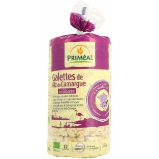 Galettes de riz de Camargue Sésame 130 g PRIMEAL 104365