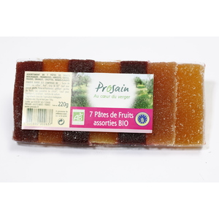 7 pâtes de fruits assorties - 220 gr 105045