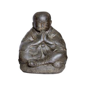 Statue de jardin Moine assis priant H 30 cm 105300