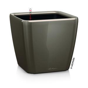 Pot à réserve d'eau Quadro Taupe L.28x28 x H.26 cm 105516