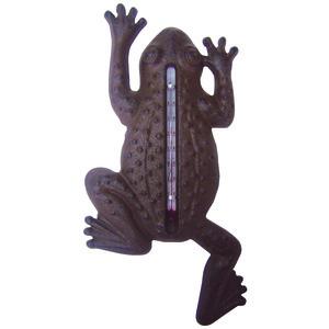 Thermomètre en fonte grenouille 12x1,6x23,5 cm 107719