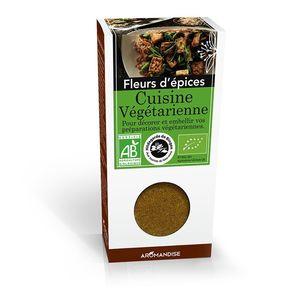 Fleurs d'épices pour cuisine végétarienne bio en boite marron de 38 g 107981