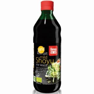 Sauce Shoyu bio avec 28% de sel en moins en bouteille de 500 ml 108065