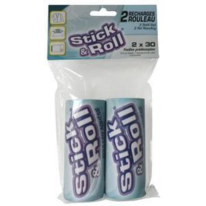 Recharge pour rouleau adhésif Stick & Roll 2x30 feuilles 109186