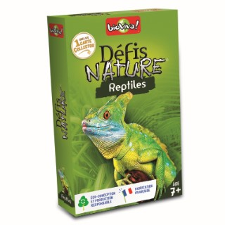 Boite de jeu Défis Nature sur le thème des reptiles 110849