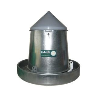 Mangeoire à trémie pour volailles en galva 5 kg 119715
