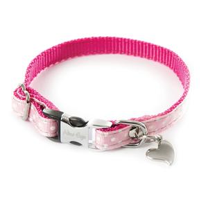 Collier Pois pour chien coloris rose - XS 120233