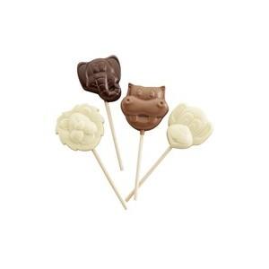 Sucettes aux 3 chocolats Animaux de la savane - 20 gr 120932