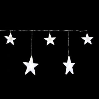 Rideau lumineux 5 étoiles blanches 160 cm 122036