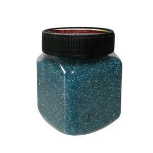 Poudre décorative couleur bleue grains fins en Pot 440g 122195