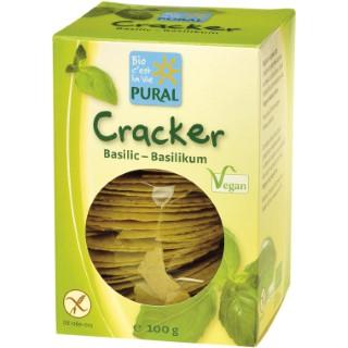 Crackers basilic sans gluten en boîte de 100 g 124916