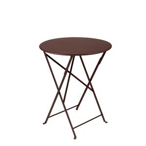 Table pliante Bistro couleur Rouille - Ø60*74 cm 12808