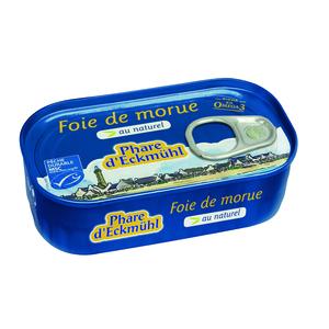 Foie de morue au naturel - Phare d'Eckmülh 121 g PHARE D'ECKMÜHL 128801