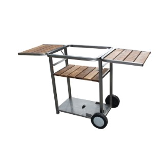 Chariot inox/bois 130580