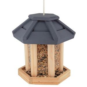 Mangeoire à oiseau Café de la Gare en bois à suspendre Ø 19 cm 13371