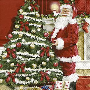 Serviettes x20 3 plis 33x33 cm Père Noël 139918