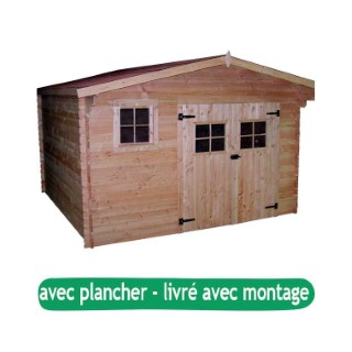 Abri de jardin DOMMAR avec plancher / livré et monté : Abris et ...