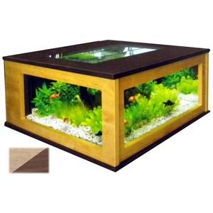 Aquarium Table 310L noyer clair oyer foncé 153735