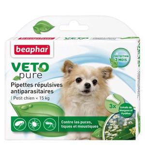 Pipettes chien 2 à 15Kg x3 antiparasitaires Beaphar 155991