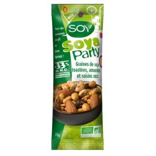 Soya Party graines de soja, amandes et raisin 70 g 158737
