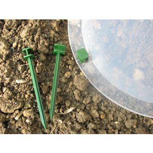Pack de 10 mini piquets vert spécial cloche en polyamide 159352
