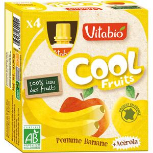 Cool Fruits bio Pomme/Banane 4 x 90 g VITABIO 159811