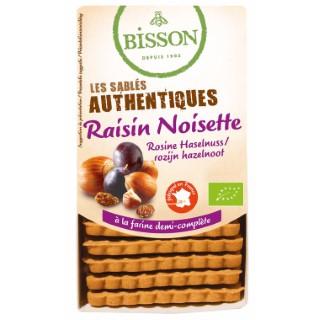 Authentiques raisins noisettes aux éclats de noisette 175 g BISSON 161732