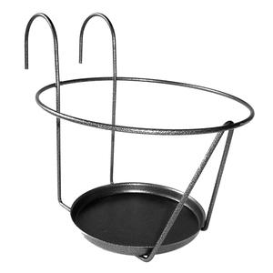 Porte pot soucoupe avec crochet gris Ø 25 cm 163670