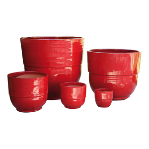 Vase Rebord coquelicot H 19 x Ø 21 cm 164076