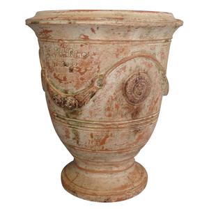 Vase Anduze patine ancienne en terre cuite émaillée H 38 x Ø 43 cm 164163