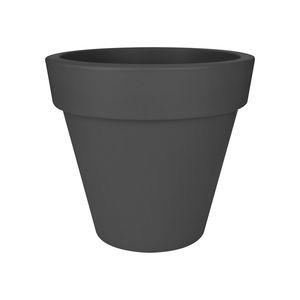 Pot pure round Elho de 44 L coloris noir Ø 50 x H 44 cm 165249