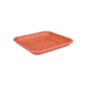 Soucoupe carrée 25 cm couleur terre cuite ELHO 165306