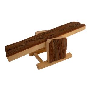 Balançoire en bois pour rongeurs 59x58xH36 cm 167309