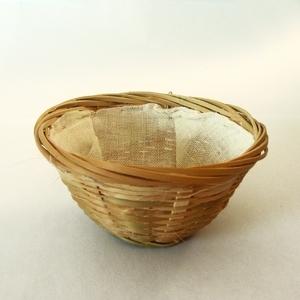 Nid pour canaris en rotin garni Ø10xH5 cm 167379