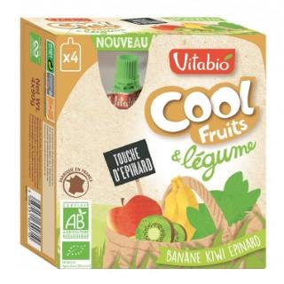Fruits et légumes Cool bio banane kiwi épinard 4 x 90 g 171301